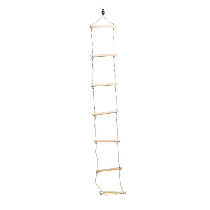 Swing slide climb 2080mm climbing rope with wooden rung for Rope swing plans