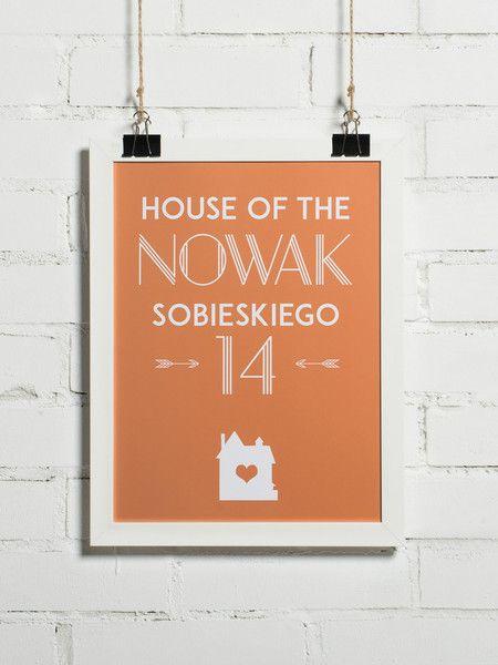 Plakat personalizowany - Mój Dom 30x40 cm - BonzooBox - Plakaty typograficzne