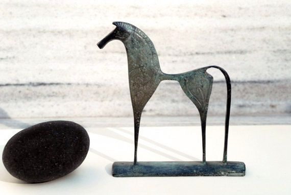 Greek Geometric Bronze Horse by GreekMythos on Etsy, $72.00