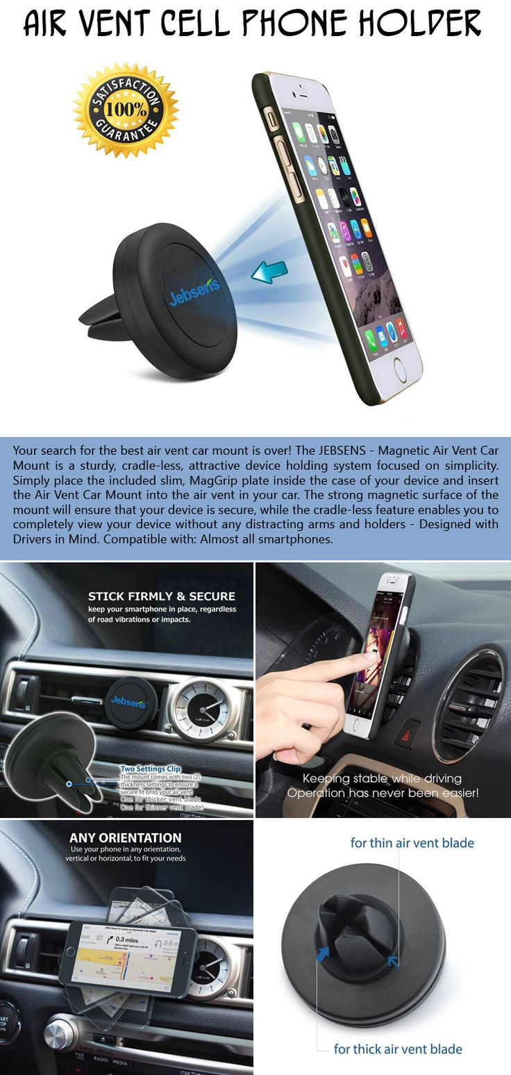 The Magnetic Dashboard phone Holder Mount is compatible with all Smartphones, This handy air vent cell phone holder is sturdy, attractive and simple.
