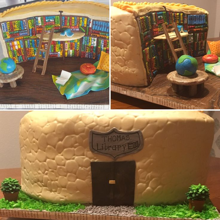 My version of a Library Cake 📚