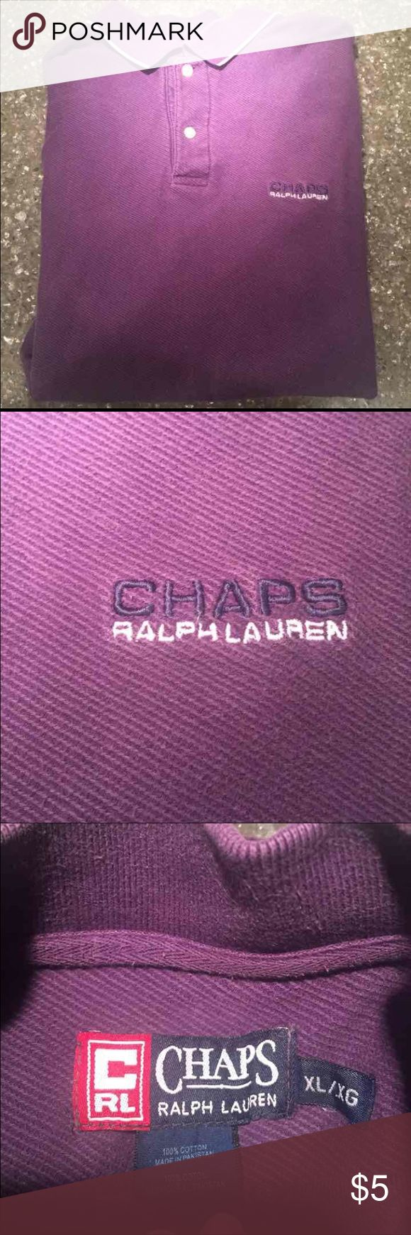 Purple Chaps Ralph Lauren Golf Shirt XL Shows signs of wear: fading, etc. still very wearable Chaps Shirts Casual Button Down Shirts