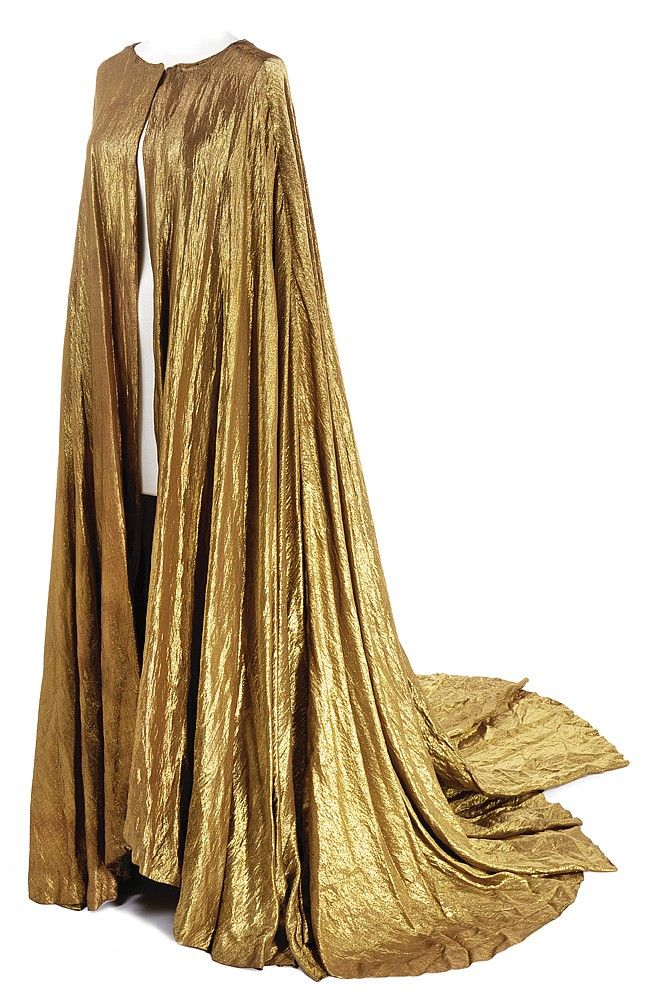 Gold lame long cape from Paramount Pictures. (Paramount ...