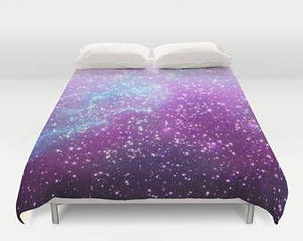 Space violet Duvet Cover Blue Space Duvet Cover King Size Bed cover King Duvet Queen Duvet Full Duvet Twin Nebula Duvet Stars Duvet Cover