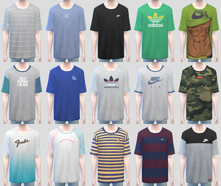 """KK T-Shirts with Cap • T-E (Male) • New mesh • Custom thumbnails • 15 Color / 2 Mesh (A,B) """"Do not re-upload or re-edit. All my CC. Do not claim to own. Do not direct download link. I agree """" • Pose 1..."""