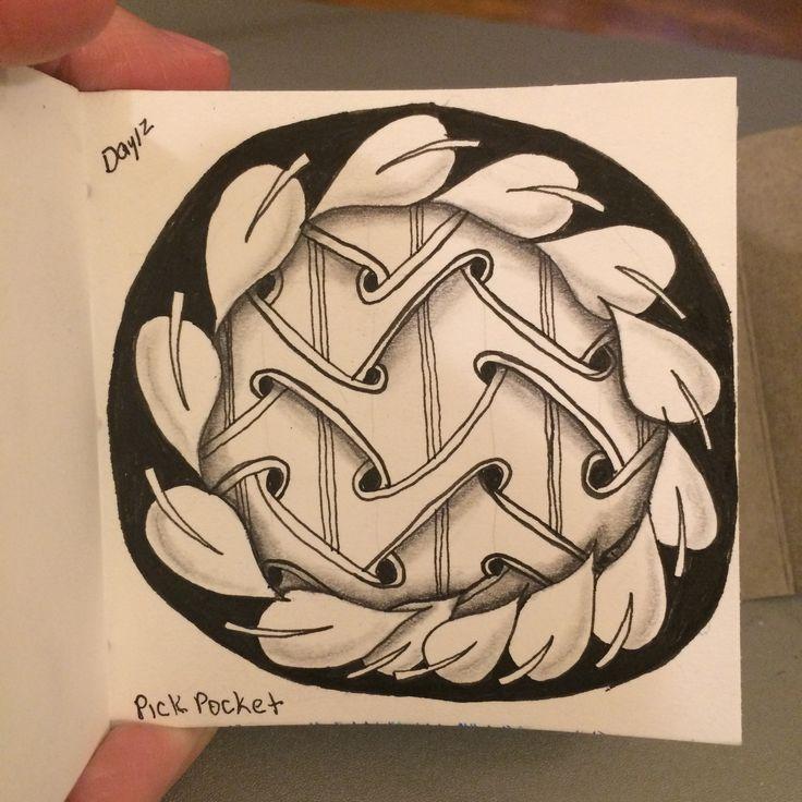 | Zentangle | Zenart | Zendoodle | the100dayproject | I Teach Tangling | Tangling | Pickpocket | Pokeroot |
