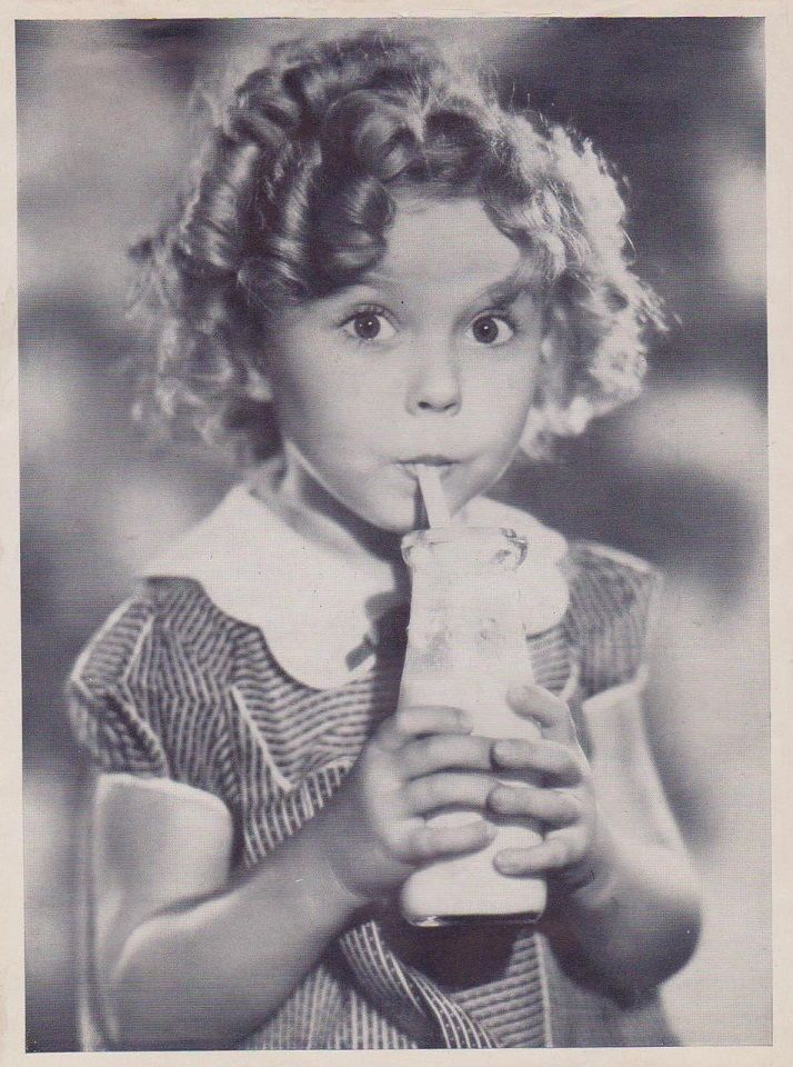 1934 Shirley Temple, Got Milk?