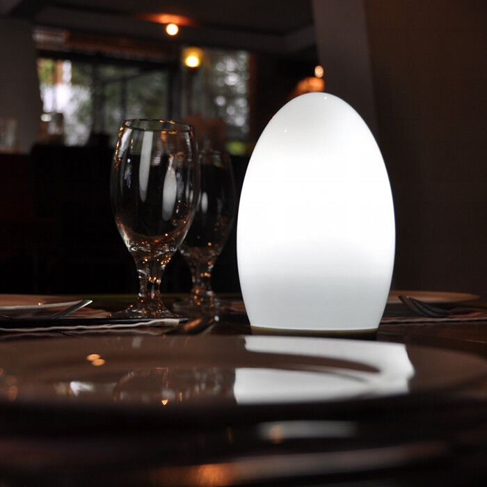 pearl egg a smart phone controlled wireless battery powered table lamp that can be placed anywhere in your home or garden ios android app download battery operated home lighting