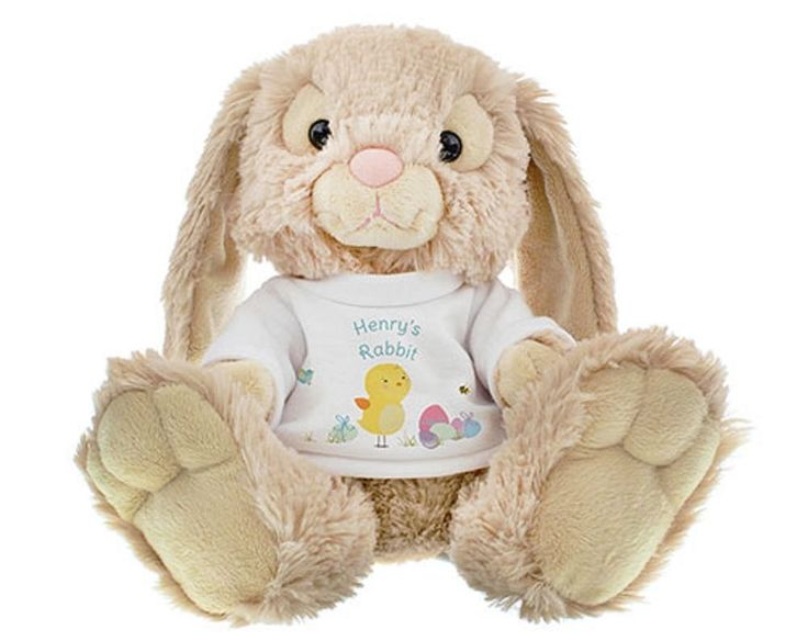 Easter Meadow Bunny Personalised Birthdays Thank You Messages Baby Gift Teddy. Make someone feel special this Easter