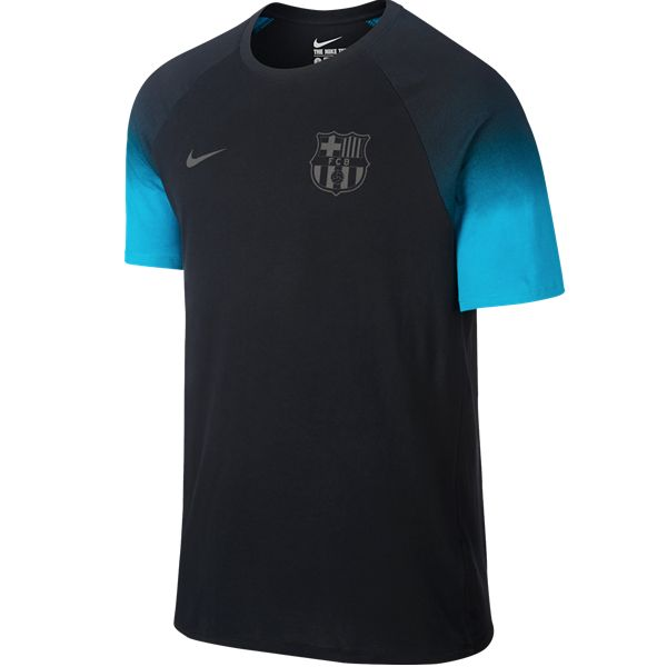 Nike FC Barcelona Match T-Shirt (Black/Turq)