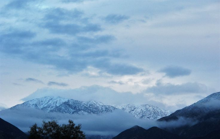 A nice winter blanket on the San Gabriels.