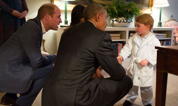 President Obama Prince George ttp://www.express.co.uk/news/royal/665757/Invictus-Games-President-Obama-Prince-Harry-Michelle-Queen-twitter