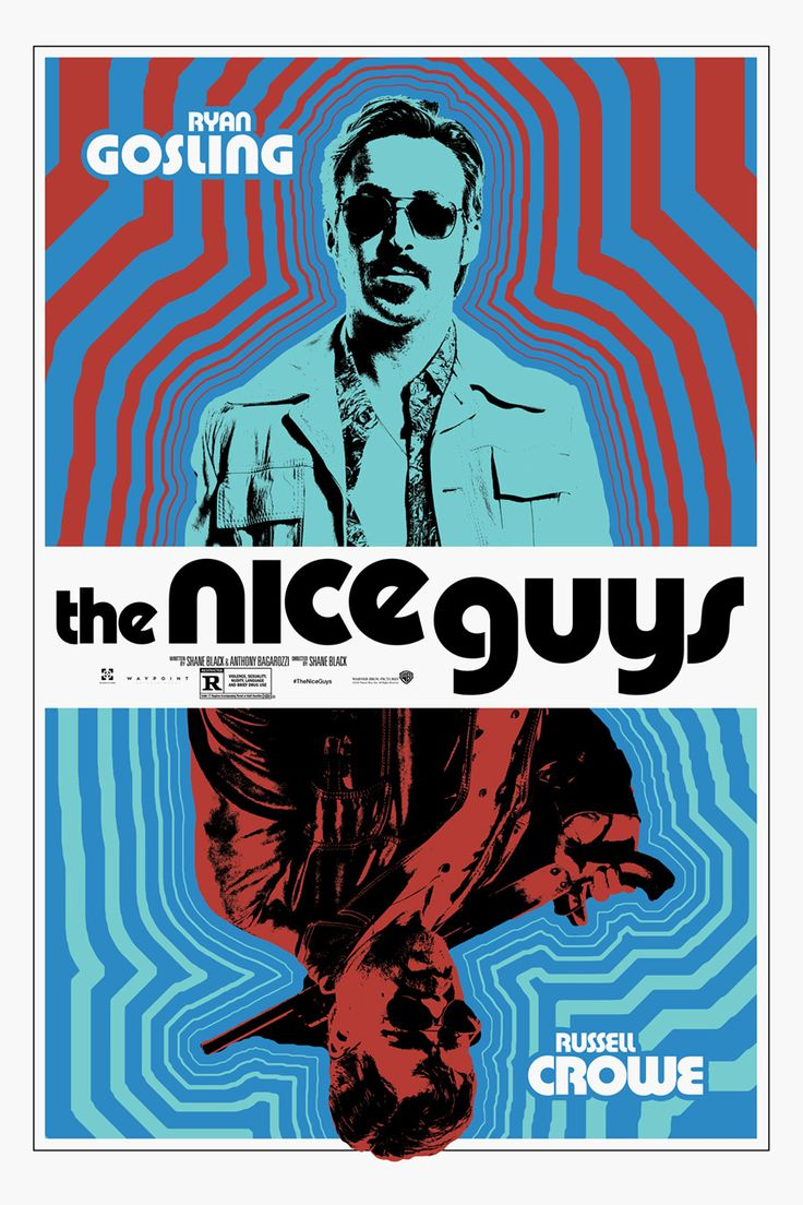 The Nice Guys Mondo-designed poster with Ryan Gosling and Russell Crowe | EW.com