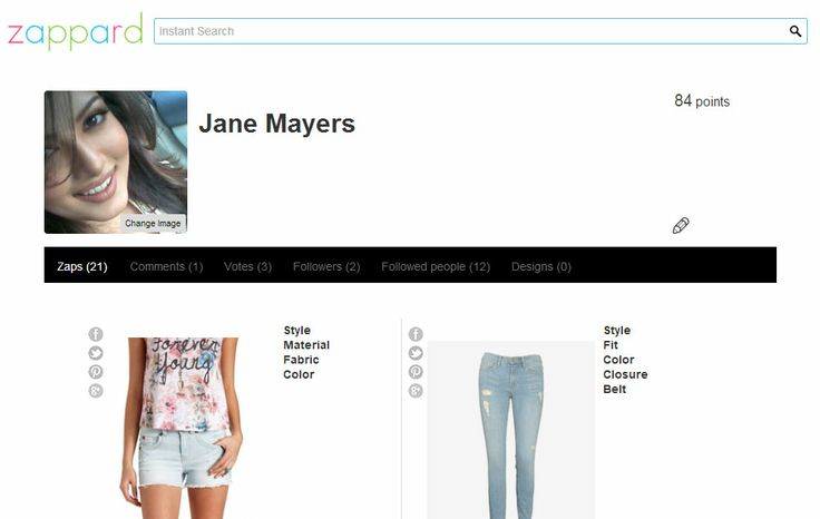 Zappard.com- Access your profile, closets, topics and designs. See your zaps, followers and collages.