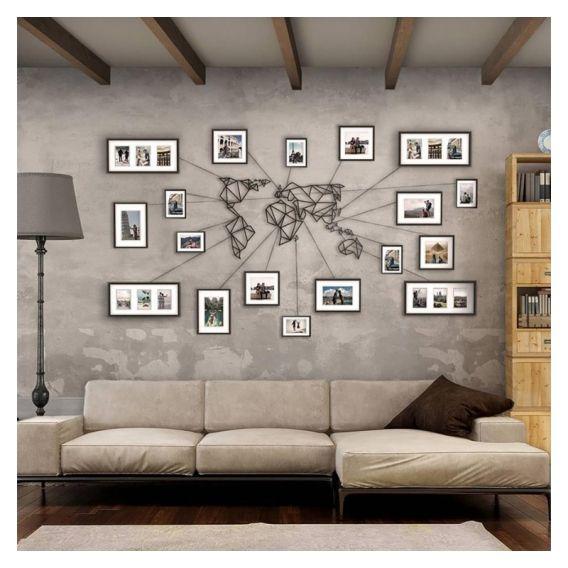 Décoration Murale Métal Design De Notre Carte Du Monde Inspiration