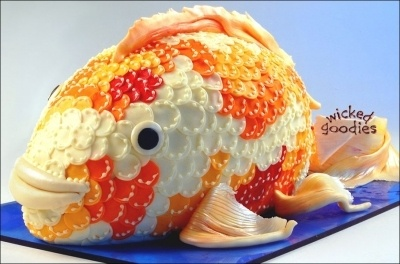 Koi Fish Cake By WickedGoodies on CakeCentral.com