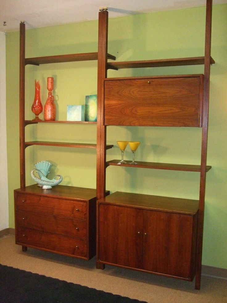 Tension Pole Teak Bookcase Unit Teak For Ever And Ever