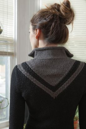 Chevron Coat Pattern - Knitting Patterns by Kerin Dimeler- Laurence