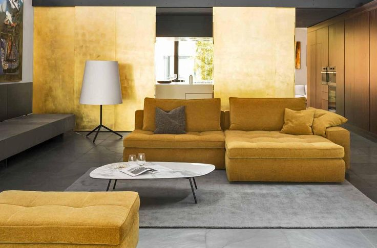 LOUNGE sofa by Calliagris is an easy sectional sofa, with a rigorous design, whose appearance is softened by the use of comfortable materials and coverings.Available at livingin.sk