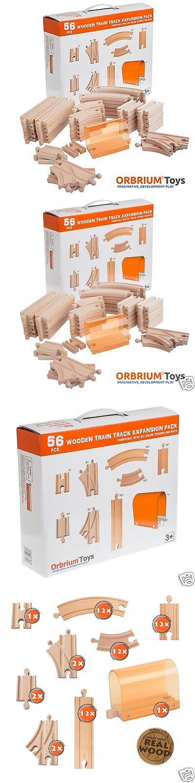 Other Thomas Games and Toys 22721: Train Tracks Wooden Thomas And Friends Railway Pieces Straight Curved Gauged Set -> BUY IT NOW ONLY: $36.95 on eBay!