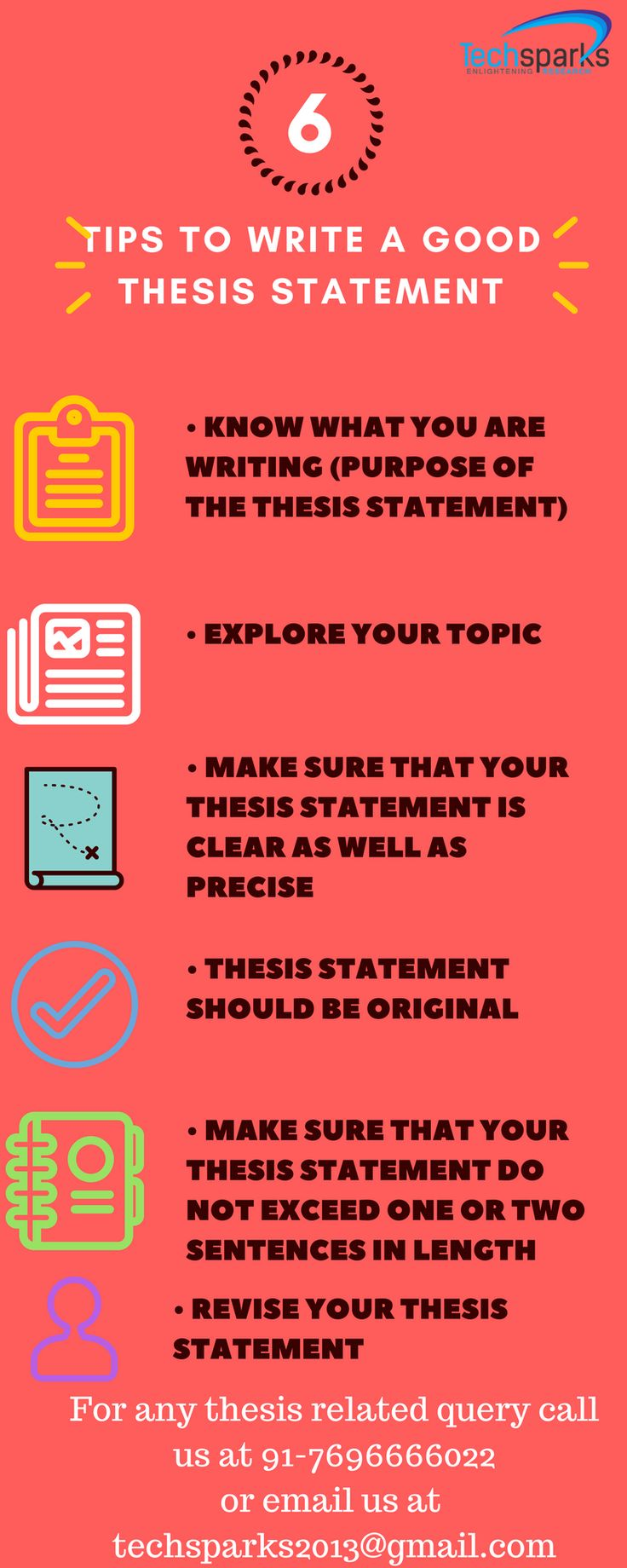 Tips for writing a thesis statement are