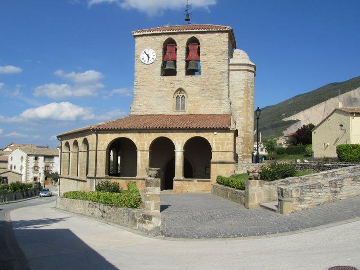 Iglesia de Tiebas, Navarra, Camino Aragonés