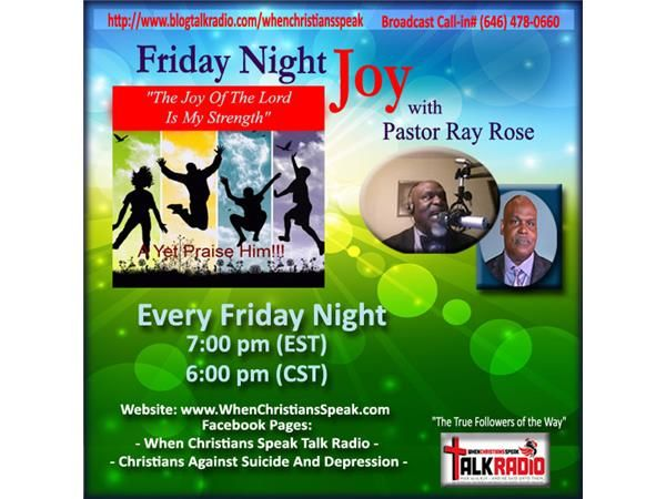 """Friday Night Joy with Rev Ray: THE CROSS AND THE LOVE! Hebrews 12:2 KJV [2] Looking unto Jesus the author and finisher of our faith; who for the joy that was set before him endured the cross, despising the shame, and is set down at the right hand of the throne of God. WEEKLY BROADCASTS: ?His Abounding Grace?(Tuesdays @ 7 pm) ?Challenged To Change?(Wednesdays @ 7pm) """"Declaring The Finished Work"""" (Thursdays @ 12 Noon) """"Friday Night Joy"""" (Fridays @ 7pm) """"Bread of Life? ..."""
