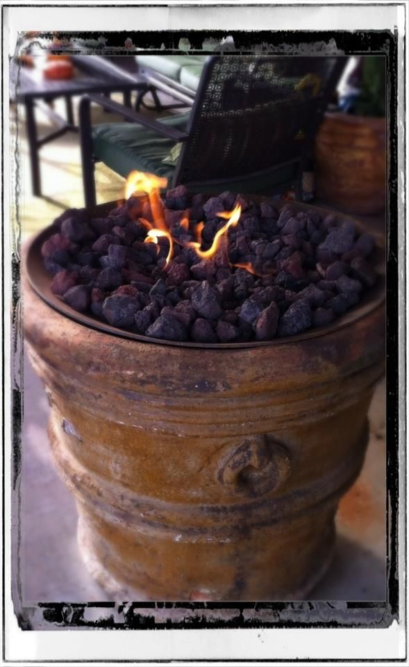 Fire Pit Made From A Flower Pot Now Entering The