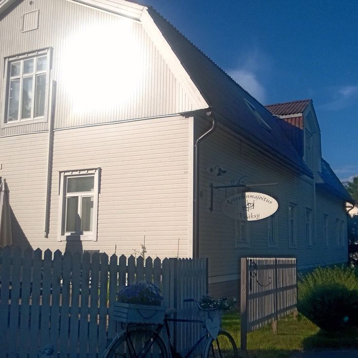 We stayed one night in an old pharmacy in the middle of Vääksy village. In a back yard is a great sauna that can be recommended to all. #vääksy #finland