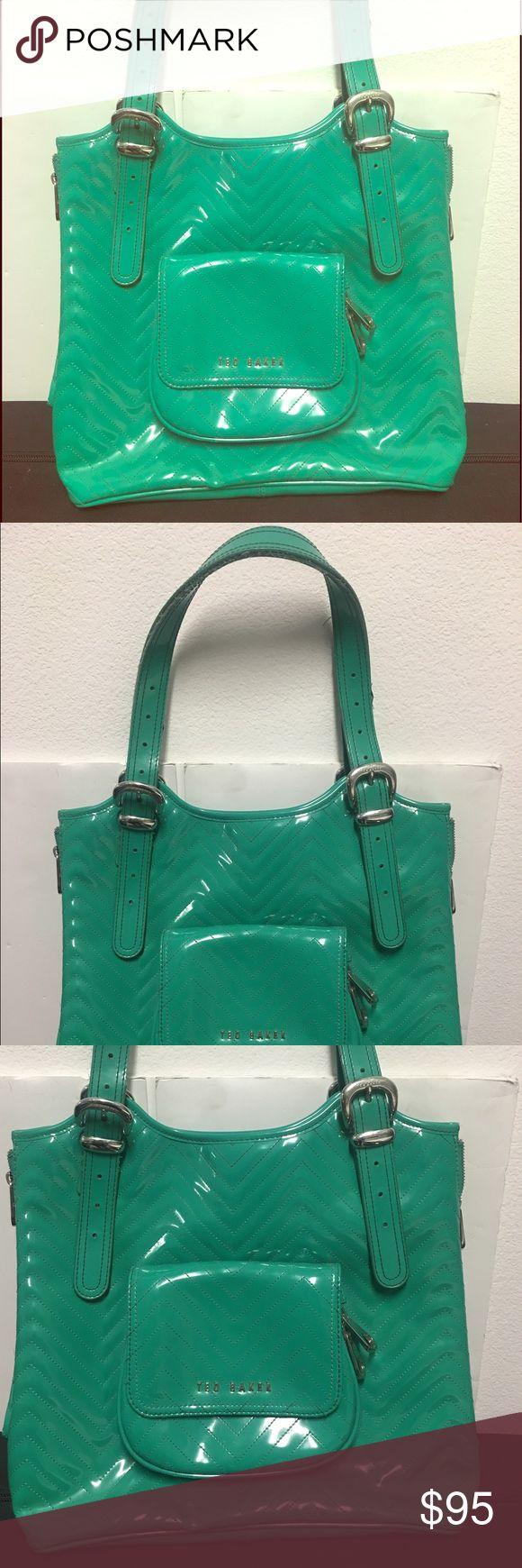 Ted Baker Bag Green Ted Baker patent Handbag super cute! Ted Baker Bags Shoulder Bags