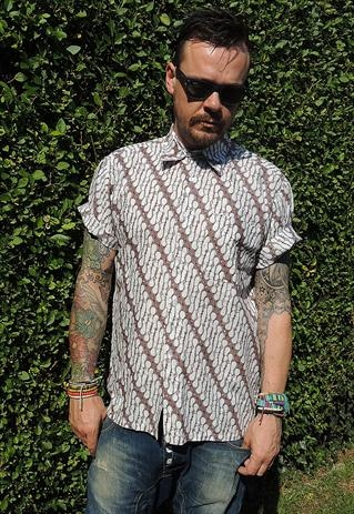 Vintage Tribal Batik Shirt
