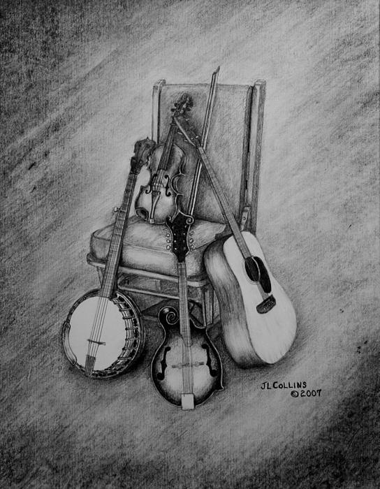 musical still life art print