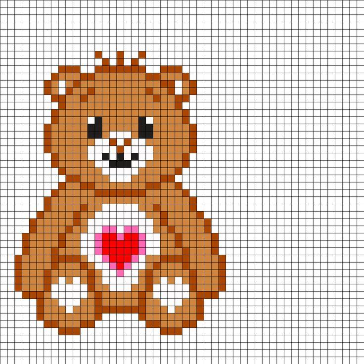 картинки по клеточкам медвежонок маленький оборудования, необходимого