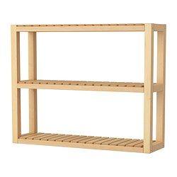 IKEA - MOLGER, Wandplank, berken, , Met open planken voor een goed overzicht en een makkelijke bereikbaarheid.