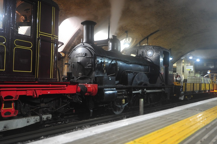 Steam Train on the London Underground - Video - Test Run for 150th Birthday Celebrations
