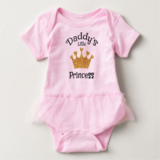 Daddy's little princess, Gold Baby Bodysuit