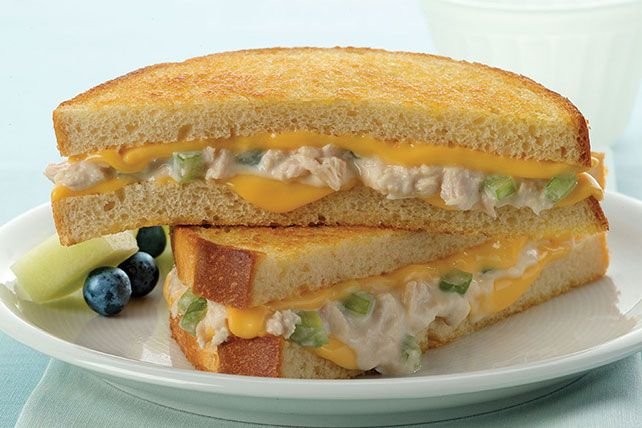 Enjoy a cheesy Tuna Melt as a lunch or dinner entrée. This grilled tuna melt is filled with creamy tuna salad for a simple yet unforgettable sandwich.