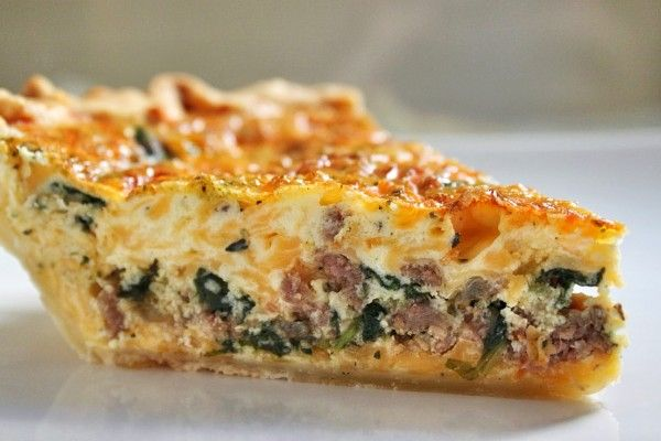 Sausage & Egg Pie- Make this delightfully easy breakfast quiche with your favorite Johnsonville Italian Sausage!