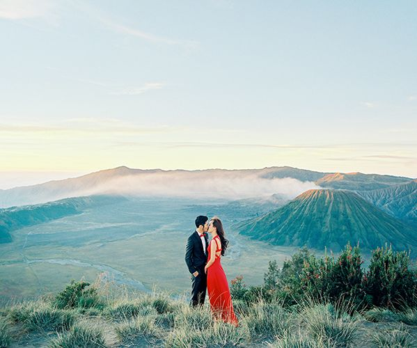 Mount Bromo volcano, Indonesia engagement shoot
