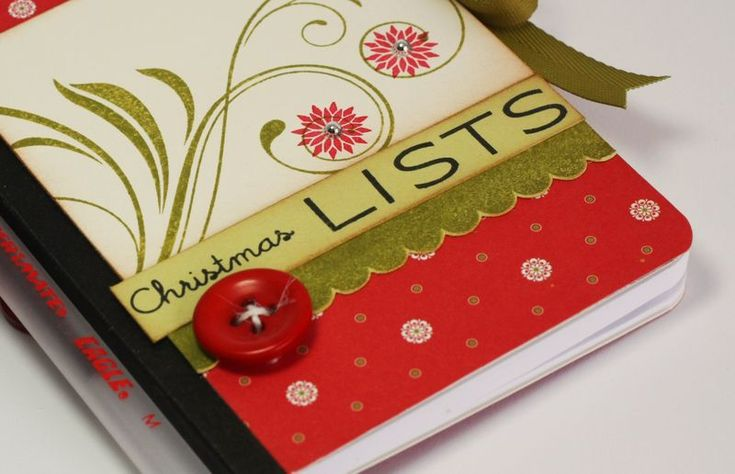 Covered Notebook (this one is for Christmas lists)