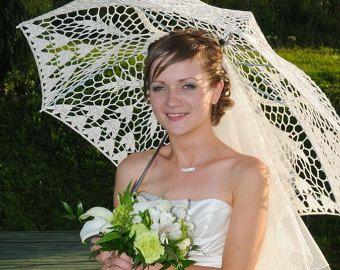 WEIß oder IVORY Sonnenschirm-Hochzeit häkeln Spitze Ecru Sonnenschirm-Victorian-edwardian-Sommer Hochzeitsfoto Requisiten-Weihnachtsgeschenke für Mutter