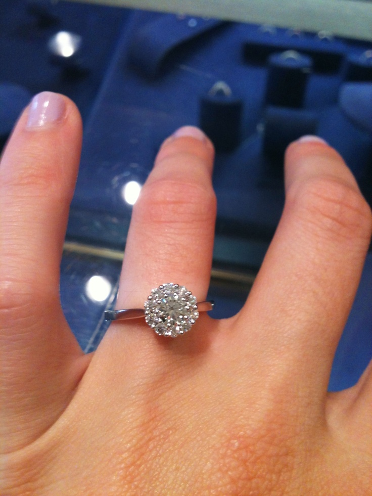 I found my favorite engagement ring ever. Hearts on Fire Beloved.