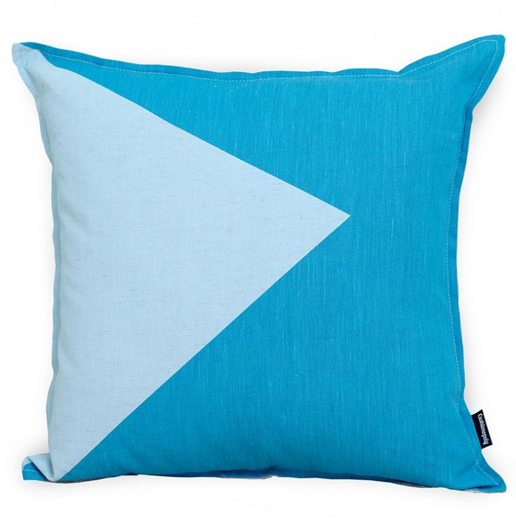 Wave the Flag Cushion Cover | Aqua - The Block Shop
