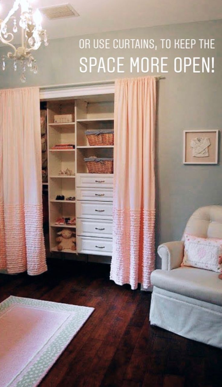 Without doors closets can look open and beautiful with