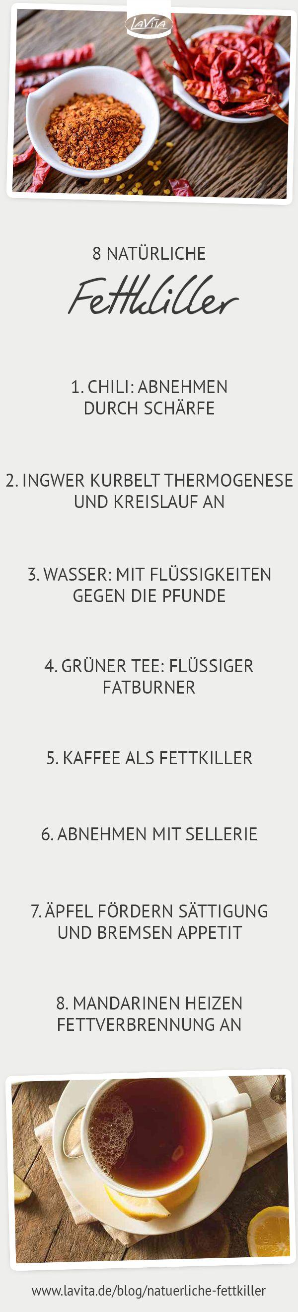 #Natürliche #Fettkiller als Unterstützung beim #Abnehmen. #ernährung #diät #gesundabnehmen