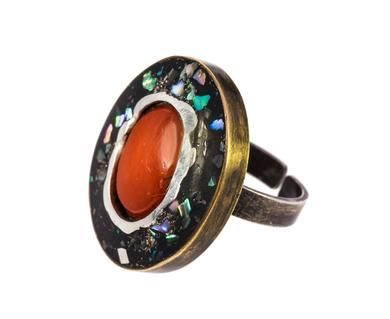 Beth Orduna - Vintage Coral Bronze Ring in Rings One-of-a-Kind at TWISTonline