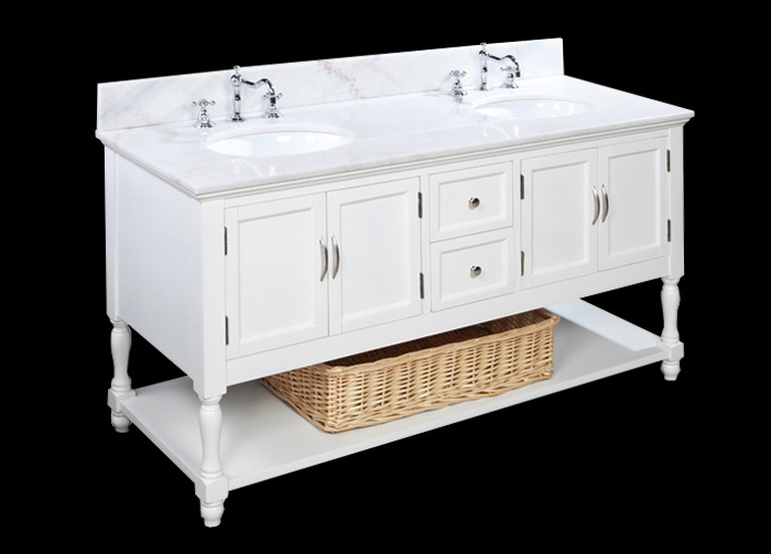 Bathroom Vanities, Marble Countertops, Solid Wood, Marbles Countertops, Bathroom Remodeling, Bathroom Ideas, Master Bath, Pottery Barn, White Cabinets