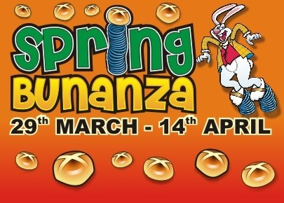 Spring Bunanza - Millets Farm  29th March 2013 - 14th April 2013  Open 11am - 4pm daily  Bunny Bunanza quizzes & craft activities - eggcellent entertainment for the whole family!  Bouncy Castle, Trampolines and the Victorian Carousel will also be open - weather permitting