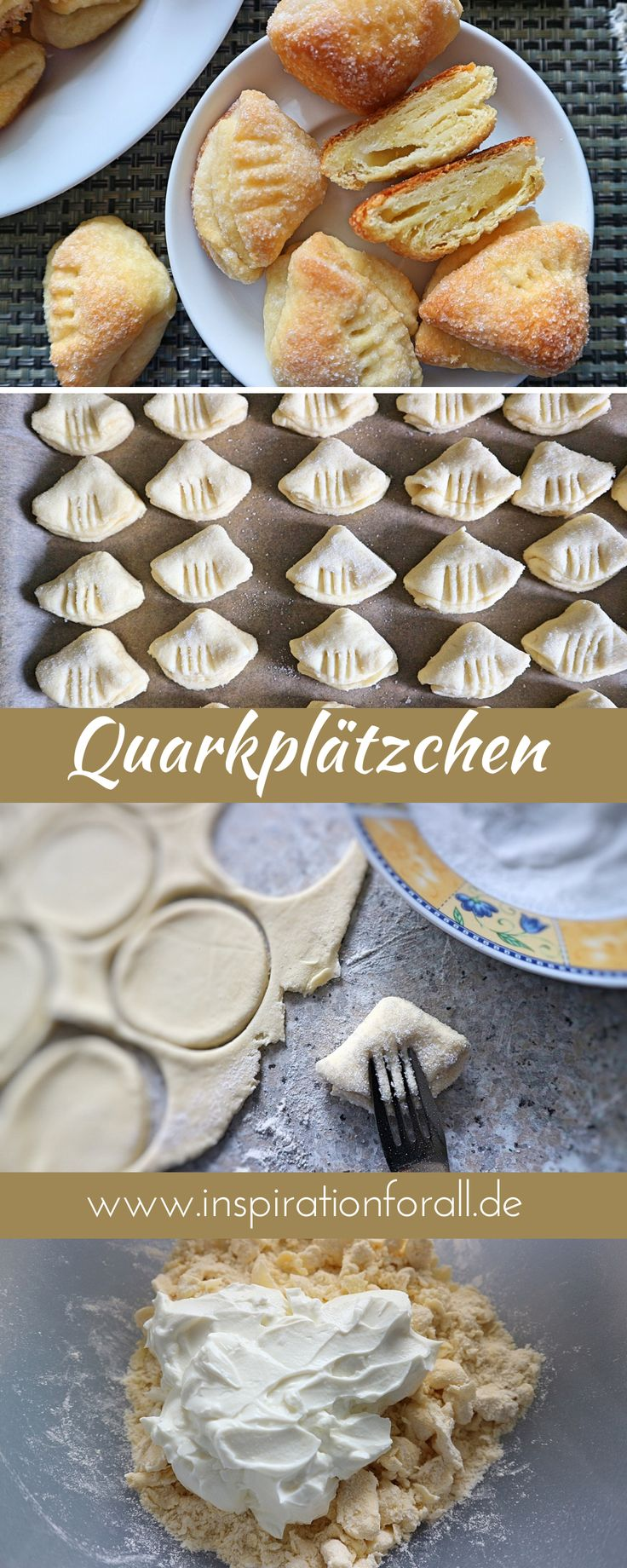"""Quark Cookies """"Geese-Latschen"""" – receta rápida y deliciosa   – Leckere Rezepte von inspirationforall.de – einfach, schnell, besonders"""