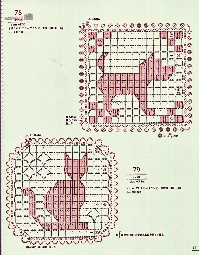 752 best filet haken images on pinterest knitting patterns crochet charts for little cats and dogs from a japanese book ccuart Images